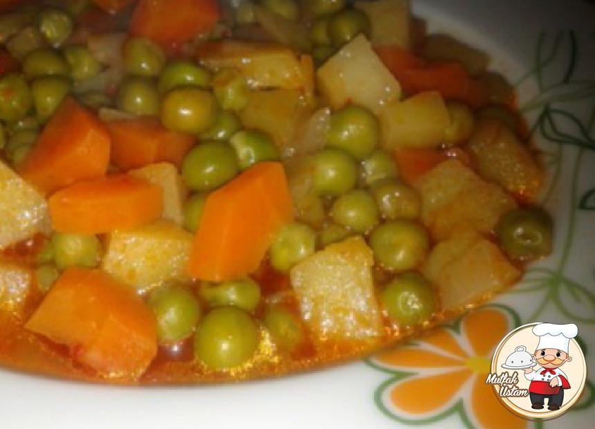 Havuçlu Patatesli Bezelye Yemeği