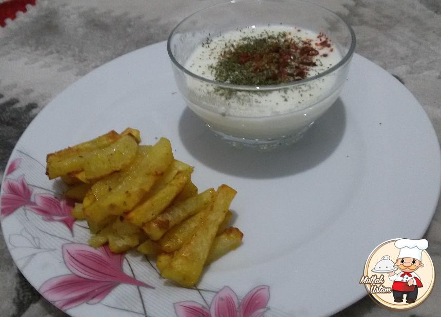 Fırında Patates Keyfi (Dip Soslu)