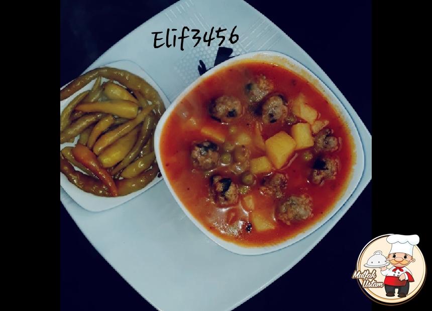 Köfte Topları Sulu Patates